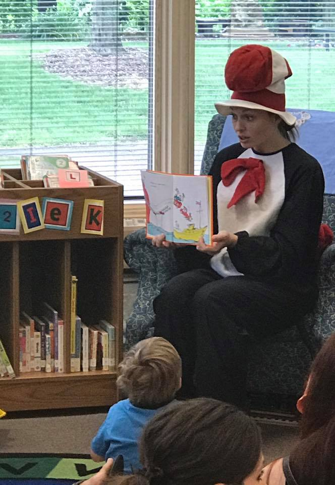 Rebekah as Dr. Seuss