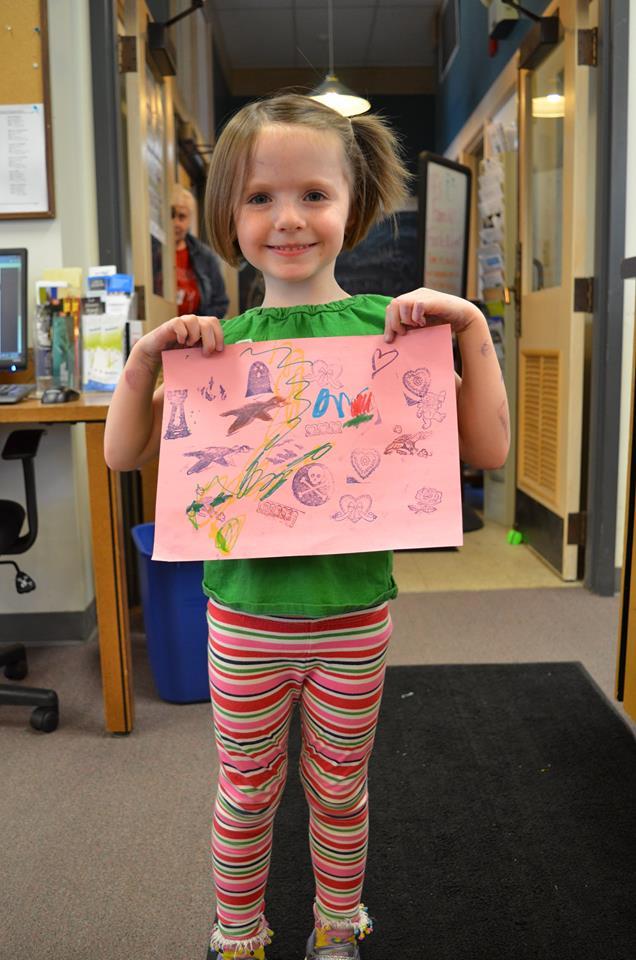 Zoe with Art