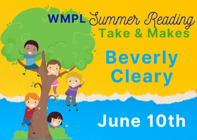 Beverly Cleary Take & Makes June 10th